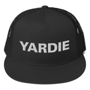 Yardie trucker Cap in three color combinations. Classic trucker cap style with a cool fabric blend. Quality Jamaican Patois caps and hats at Rastagearshop.com