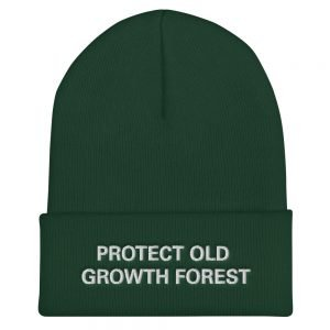 Protect Old Growth Forest Beanie at Rasta Gear Shop Original Rastafarian Jamaican and Reggae designs on Clothing and merchandise.
