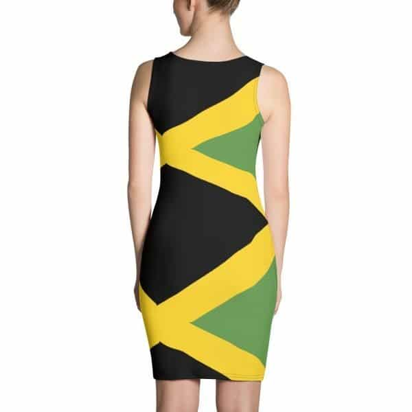 Jamaica Me Crazy Bodycon Dress. Make a statement and look fabulous in this all-over printed, fitted dress. Rasta Gear Shop Jamaican women's clothing and accessories.
