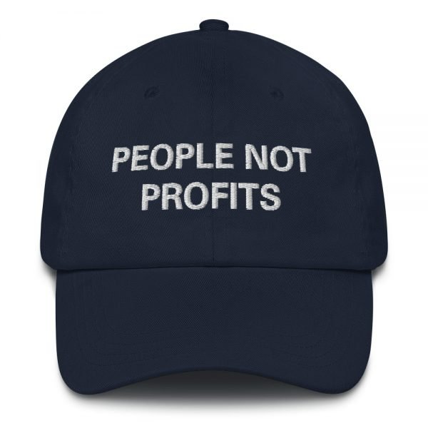 People not Profits Dad hat in navy blue. These rasta hats aren't just for dads. Please read Sale Terms and Conditions before purchase.