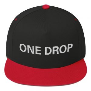 One Drop flat bill Cap in red and black. The high-profile fit and a green undervisor make this cap a classic with an added pop of color.Embroidered reggae hat at Rasta Gear Shop, quality Reggae and Rastafarian merchandise.