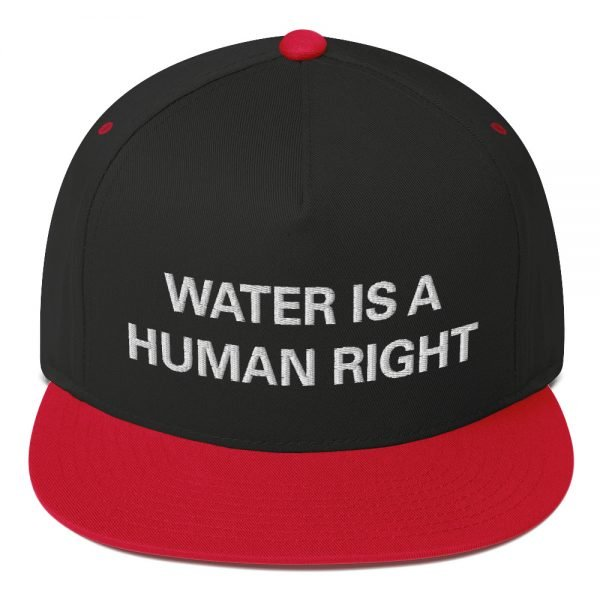Water is a Human Right flat bill Cap in black and red. The high-profile fit and a green undervisor make this cap a classic with an added pop of color. Rasta Gear Shop Original Rastafarian Jamaican Reggae Merchandise and Clothing.