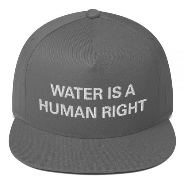 Water is a Human Right flat bill Cap in grey. The high-profile fit and a green undervisor make this cap a classic with an added pop of color. Rasta Gear Shop Original Rastafarian Jamaican Reggae Merchandise and Clothing.