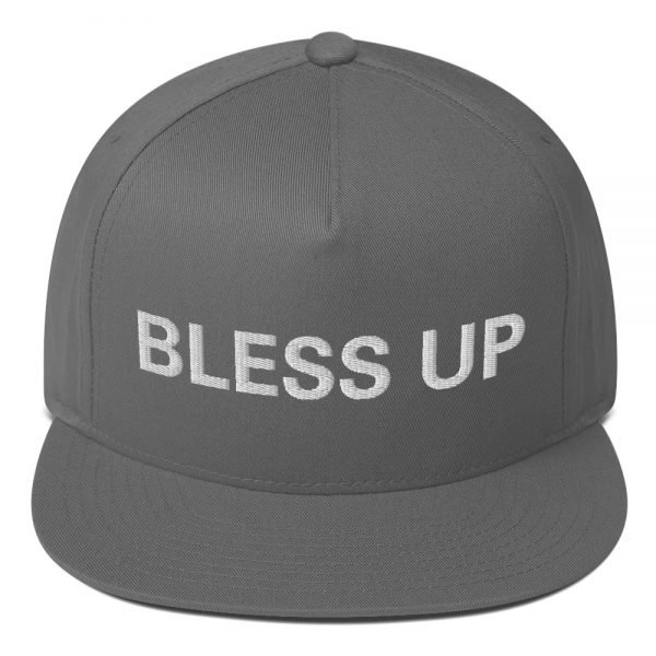 Bless Up flat bill Cap in grey The high-profile fit and a green undervisor make this cap a classic with an added pop of color. Rasta Gear Shop Original Rastafarian Jamaican Reggae Merchandise and Clothing.