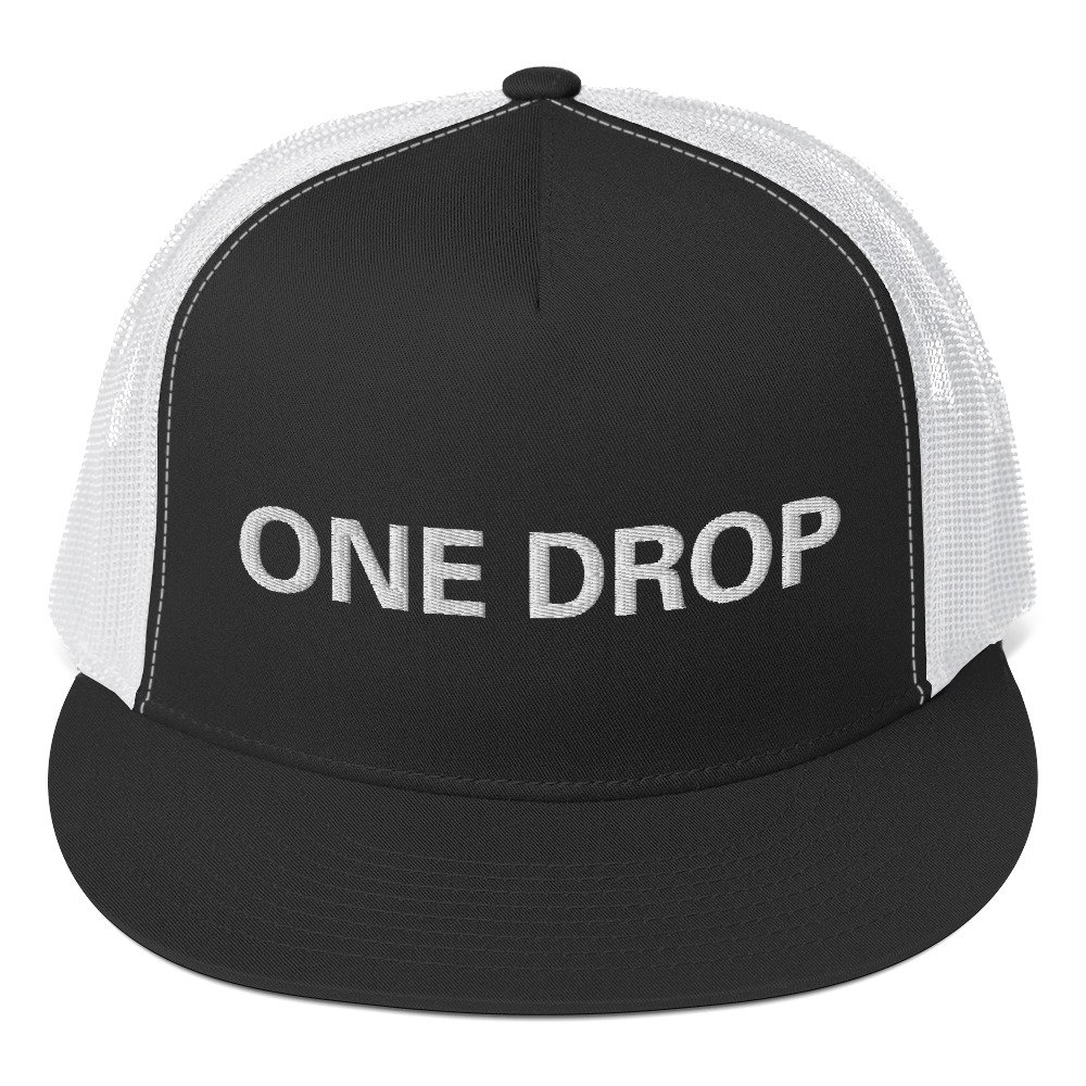 One Drop Trucker Cap in assorted colors at Rastagearshop. Reggae cap with Embroidered white letters. Classic trucker cap style with a cool fabric blend. Quality Rasta Hats and Merchandise