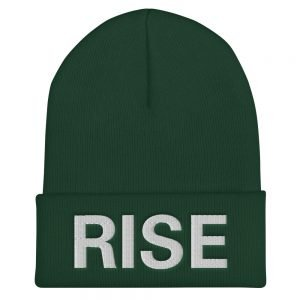 Rise Beanie in forest green. A snug rasta beanie. A staple accessory in anyone's wardrobe. Original Rastafarian, Reggae and Jamaican merchandise. Rasta Gear Shop Original Clothing and Merchandise