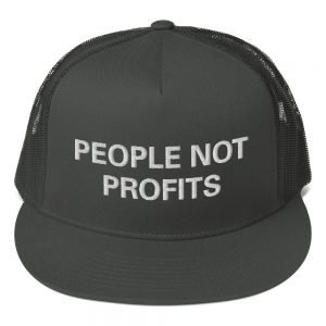People not Profits trucker cap in a selection of colors. Classic rasta hats in a cool fabric blend. An original design from Rasta Gear Shop.