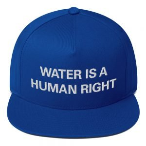 Water is a Human Right flat bill Cap in royal blue. The high-profile fit and a green undervisor make this cap a classic with an added pop of color. Rasta Gear Shop Original Rastafarian Jamaican Reggae Merchandise and Clothing.