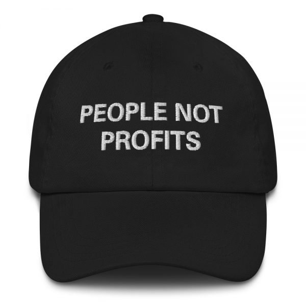 People not Profits Dad hat in black. These rasta hats aren't just for dads. Please read Sale Terms and Conditions before purchase.