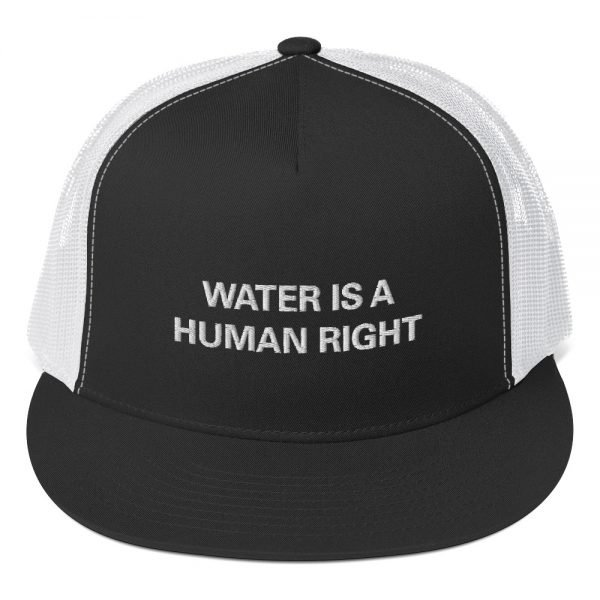 Water is a Human Right trucker cap style with a cool fabric blend. Classic Rasta Gear Shop Original Rastafarian Jamaican Reggae Merchandise and Clothing.