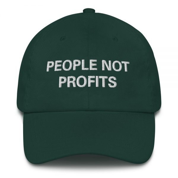 People not Profits Dad hat in forest green. These rasta hats aren't just for dads. Please read Sale Terms and Conditions before purchase.