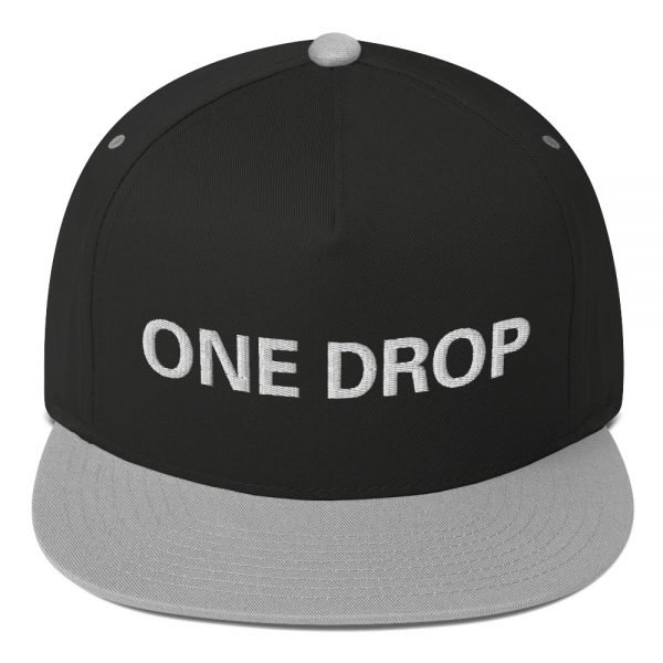 One Drop flat bill Cap in grey and black. The high-profile fit and a green undervisor make this cap a classic with an added pop of color.Embroidered reggae hat at Rasta Gear Shop, quality Reggae and Rastafarian merchandise.