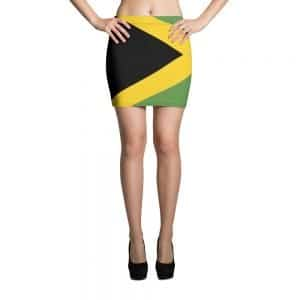 Jamaican mini skirt at Rasta Gear Shop Jamaican womens clothing and accessories.