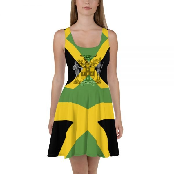 Jamaican skater dress at Rasta Gear Shop Jamaican womens clothing and accessories.