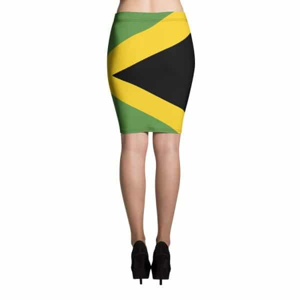 Jamaican pencil skirt at Rasta Gear Shop Jamaican womens clothing and accessories.