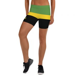 Jamaican Stretch Shorts Rasta Gear Shop