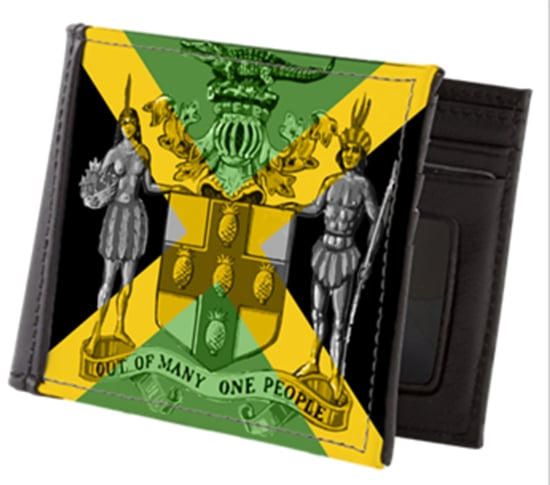 Jamaican Wallet Out of Many One People Rastagearshop Jamaican Rasta and Reggae clothing and merchandise