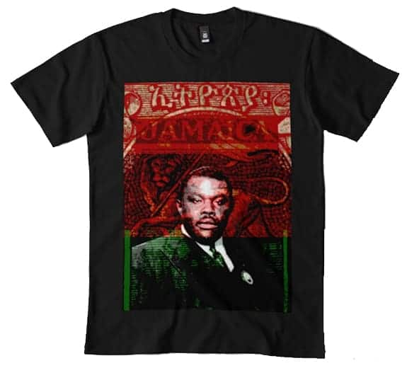 Marcus Garvey T-shirt Rastagearshop.com rastafarian Jamaican and Reggae merchandise and clothing