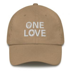 One Love Dad hat beige in many colors rastagearshop merchandise and clothing