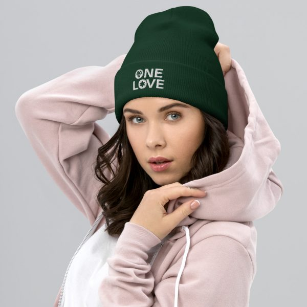 one love beanie forest green and many other colors rastagearshop merchandise and clothing
