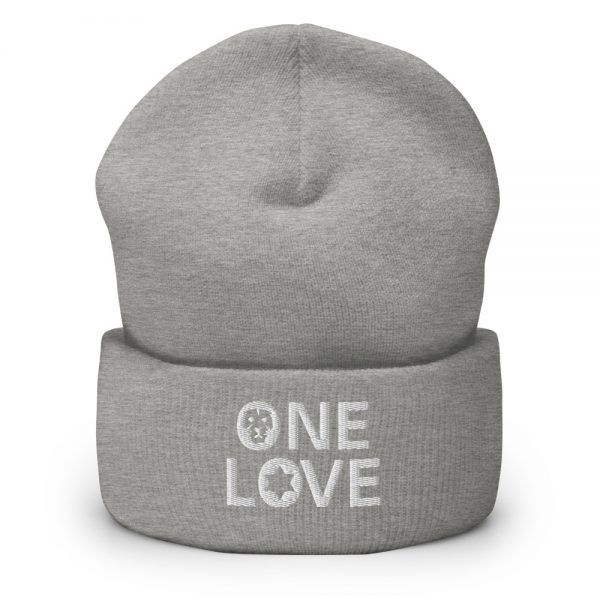 one love beanie grey and many other colors rastagearshop merchandise and clothing