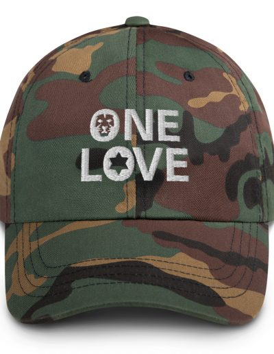 One Love Jamaican Camouflage Dad Hat
