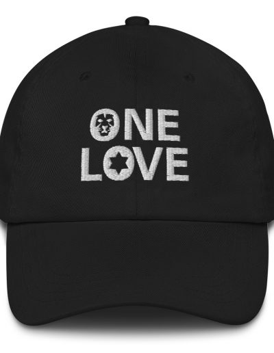 One Love Dad hat black in many colors rastagearshop merchandise and clothing