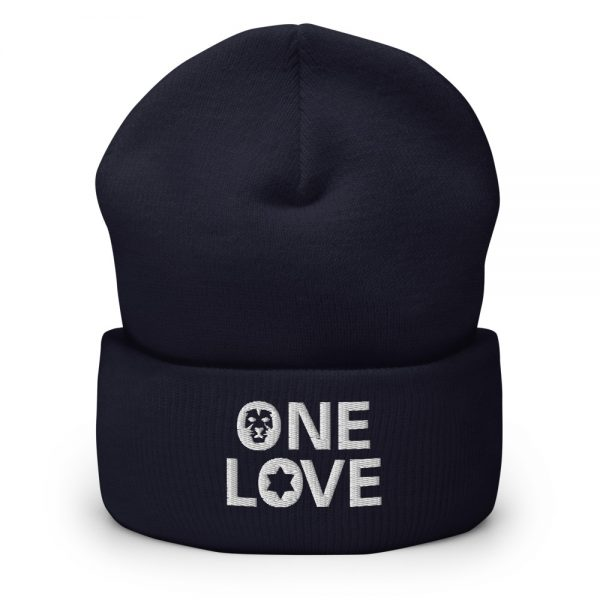 one love beanie navy blue and many other colors rastagearshop merchandise and clothing