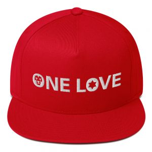 one love flat blill cap in assorted colors rastagearshop merchandise and clothing