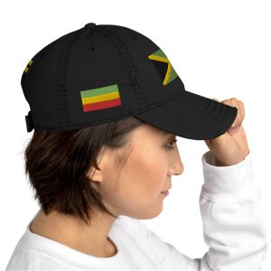 Jamaican Flag Lion Cap at Rasta Gear Shop Large selection of distressed colors with embroidered designs