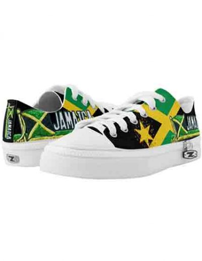 Jamaican Flag Funky Low Rise Sneakers in the jamaican Colors at Rasta Gear Shop