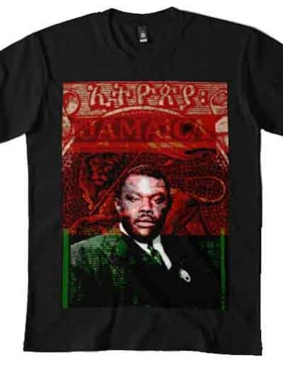 Marcus Garvey T-shirt Rasta Gear Shop Rastafarian Jamaican and Reggae Merchandise Clothing and Accessories