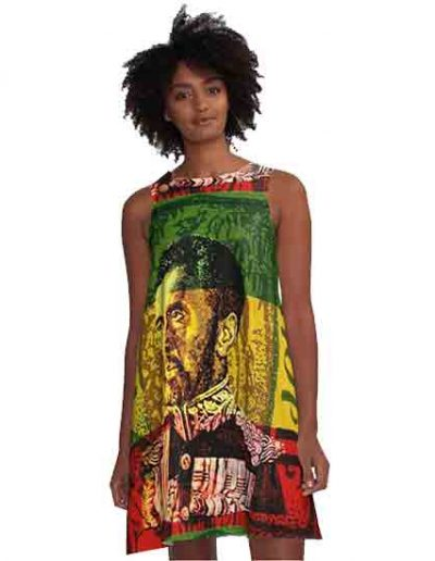 Haile Selassie A-line Dress Rasta Gear Shop Designs