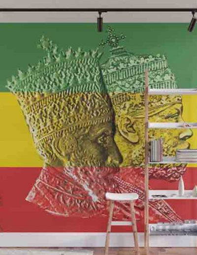 Rastafarian Reggae and jamaican Wall Murals Rasta Gear Shop
