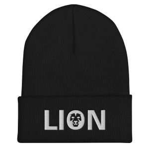 Lion Rasta Beanie Turbo Acrylic black Rastagearshop merchandise and clothing
