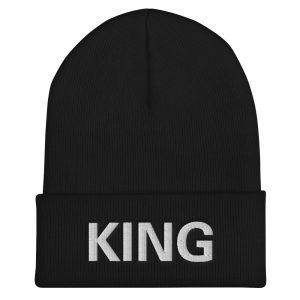 King Rasta Beanie BlackTurbo Acrylic Cuffed at Rasta Gear Shop