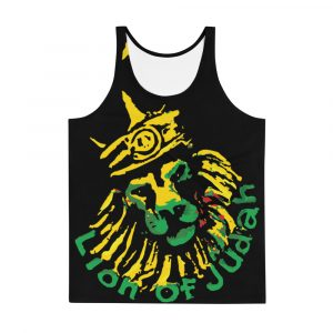 Jamrock King Unisex Tank Top. Jamaican clothing, tops, hoodies, caps, shoes and accessories at Rastagearshop.