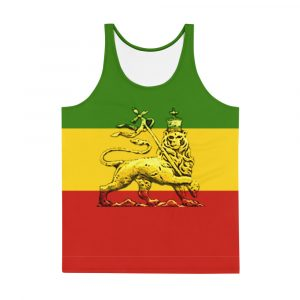 Conquering Lion of Judah Unisex Tank Top. Rasta tank tops, singlets, t-shirts and other clothing. Accessories and more at Rastagearshop.com