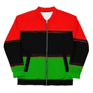 Rasta Pan African Lion Unisex Bomber Jacket at Rastagearshop.com Original Pan African Hoodie with Lion of Judah and Star of David on the back.