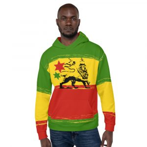Rasta Unisex Hoodie at Rasta Gear Shop. Jamaican Reggae Rastafarian Merchandise and Clothing.