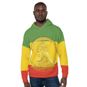 Selassie I Hoodie at Rasta Gear Shop. Original Haile Selassie Merchandise and Clothing.