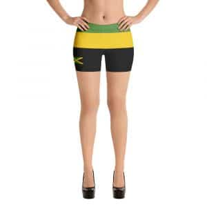 Jamaican Shorty Shorts in the Jamaica colors at Rastagearshop. Great for a workout in the dancehall, at the gym or on the beach.