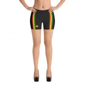 Rasta Stripes Dancehall Shorts in with red gold and green stripe. Rastagearshop reggae gear, dancehall clothing and Rasta wear.