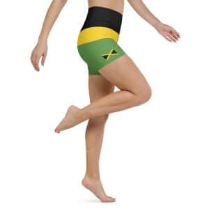 Jamaican Yoga Shorts at Rastagearshop. Jamaican, Reggae and Rasta Gear and Clothing. Great for the gym, the beach or a yoga workout