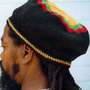 Rasta black beret handknitted in pure Australian Merino wool. Quality product will last many years if cared for properly.