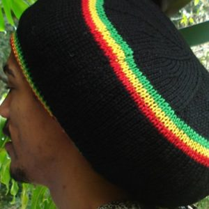 Rasta Black Wool Tam at Rastagearshop.com. Handkniitted in the Reggae colors this product is made from the finest Merino wool in Australia.