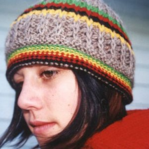 Rasta Wool Beanie Natural hand knitted in Australian Merino natural wool with color trim. Quality product from Rastagearshop.com