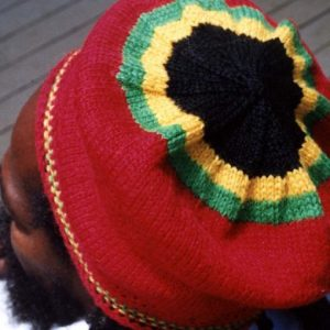 Rasta red beret handmade from pure Australian wool. Jamaican colors and red base. Rastagearshop fine quality Reggae, Jamaican gear.